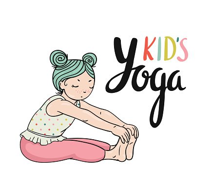 Kid Yoga Logo Gymnastics For Children