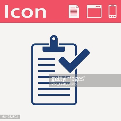 clipboard with checklist flat icon