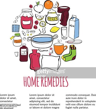 Card template with home remedy