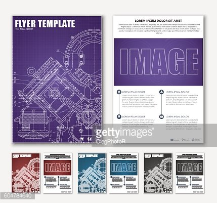 Design brochures with technical drawings