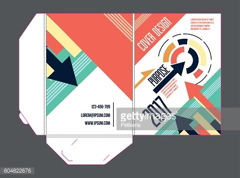 vector template of corporate folder. For promotions, conferences, reports