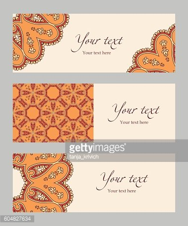 Set of vector ethnic banners