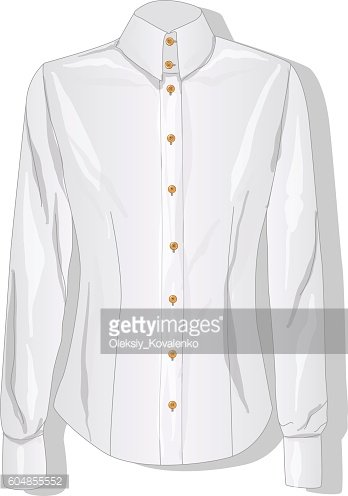 Dress shirt female. Clothes collection. Vector.
