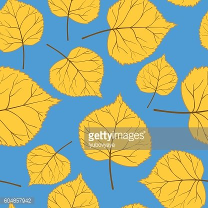 Blue Pattern with leaves-01