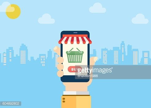 Mobile shopping store – Illustration