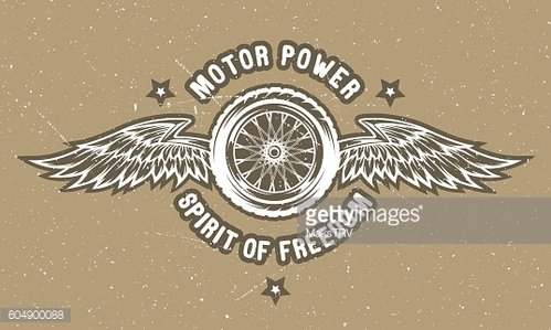 Wheel and wings. The spirit of freedom.