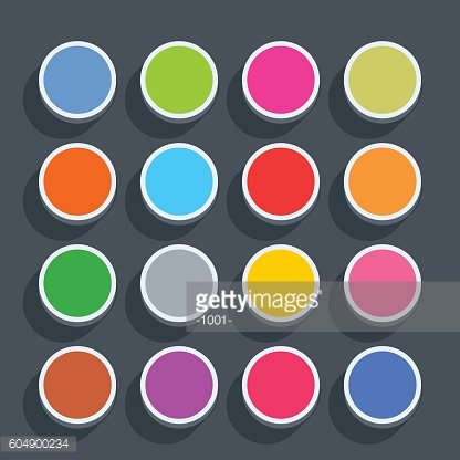 Flat blank web button round icon with shadow