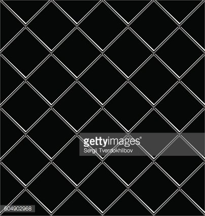 Black And White tile seamless background in grunge style.