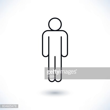 Black man sign in flat style