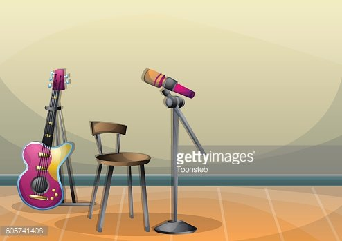 cartoon vector illustration music instruments objects with separated layers