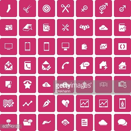 Set of 49 Universal Icons.