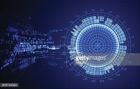 Blue abstract technological background.