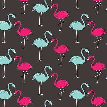 Flamingo wallpaper clip art.