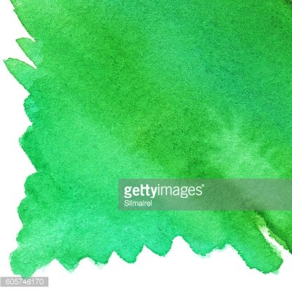 Watercolor green spot backdrop texture background isolated