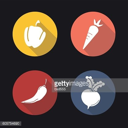 Vegetables icons