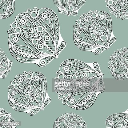 Seamless pattern with sea creatures 17