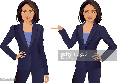 Businesswoman front facing and arms folded