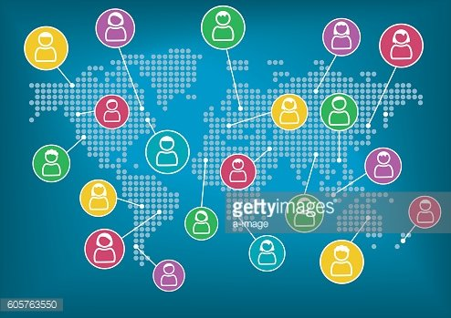 Global network of collaboration within connected workforce.