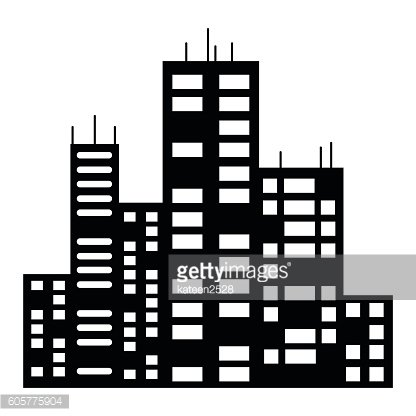 vector black city