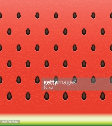 Seamless watermelon surface texture with seeds