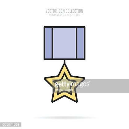 Awards icons isolated with shadow