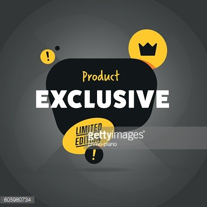 Exclusive product isolated banner