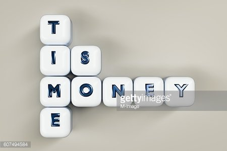 time is money cubes