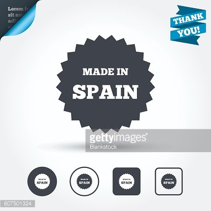 Made in Spain icon. Export production symbol.