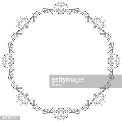 drawing hand vintage frame baroque elements for advertising