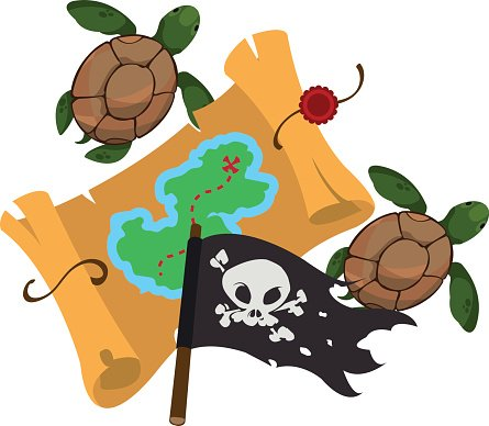 Schatzkarte Piratenflagge Grafik Piraten Premium Clipart