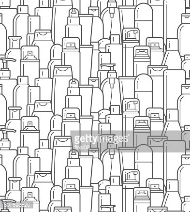 Cosmetic bottles. Flat icons