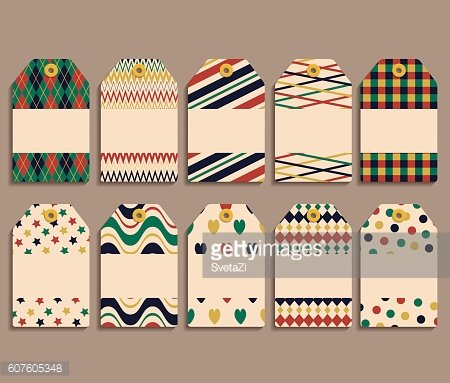 Vector set gift tags2
