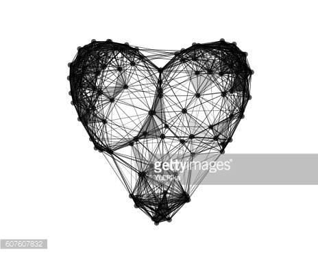 Illustration of heart on white background