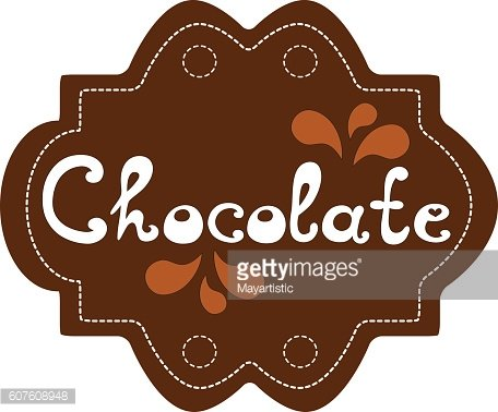 Label Chocolate vector