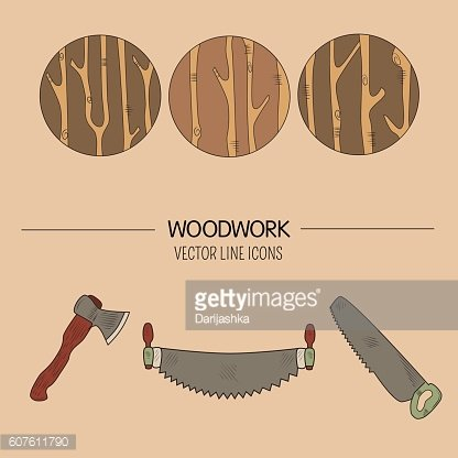 Woodwork vector icons
