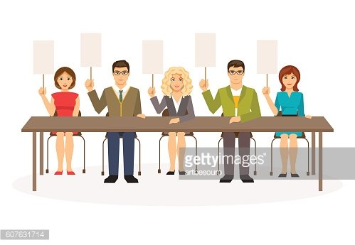 Jury. Vector illustration