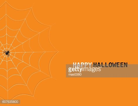 Vector Halloween concept with spider's web and lettering.