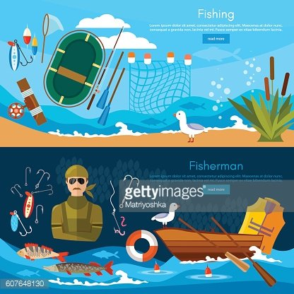 Professional fishing banners fishing concept.