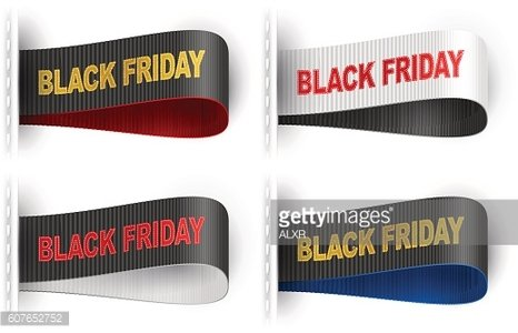 Marketing Tag Label Clothes Sticker Sewn Phrase Black Friday Set