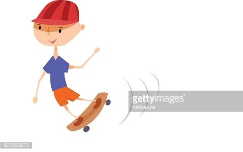 boy on a skateboard.Playing child. Active lifestyle. Stock vector