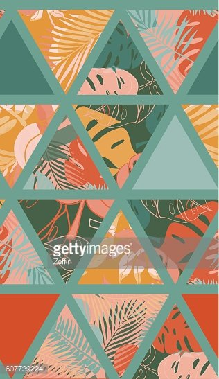 Bright hawaiian pattern
