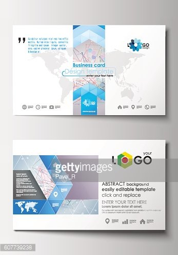 Business card templates. Cover design template, easy editable blank, abstract