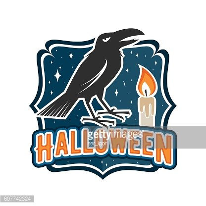Halloween vintage badge, emblem or label.
