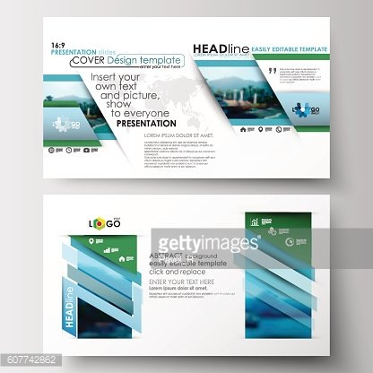 Business templates in HD format for presentation slides. Flat design