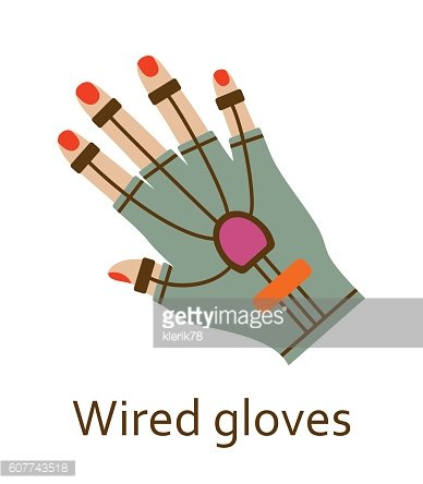 Wired gloves line icon. Vector illustration.