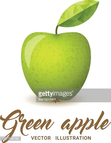Green Apple vector illustration
