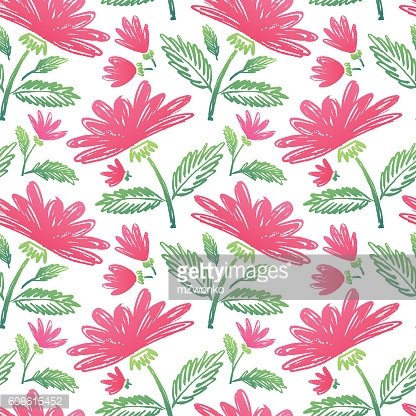 Watercolor flower nature pattern
