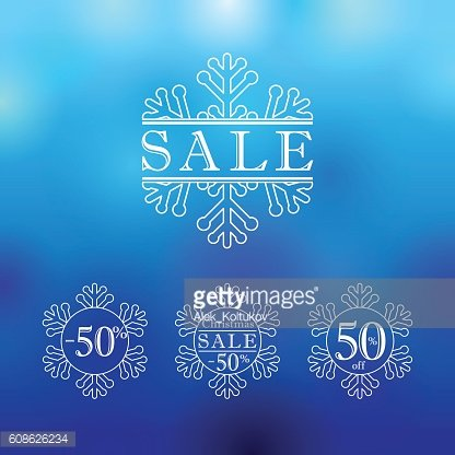 Christmas and New Year vector sale ad.