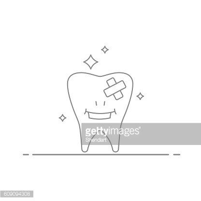Concept illustration of the treatment and care teeth . Smiling ...
