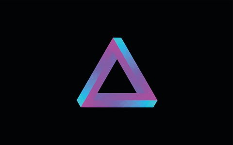 Penrose triangle Penrose stairs Impossible object Geometry, triangle,  angle, triangle png   PNGEgg